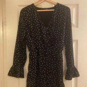 Black Tape Long sleeve dress